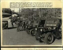 1971 Press Photo 519th Military Police Battalion Arrived At Ft. Meyer, Virginia