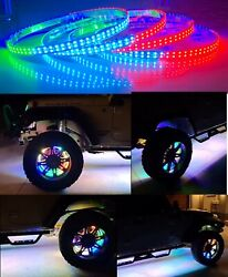 15.5 Led Wheel Ring Light Universal For All Cars Blueooth Dual Row Led Bluetoot