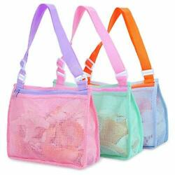 Beach Toy Mesh Bag Kids Shell Collecting Bag Beach Sand Toy Totes for Holding $23.83