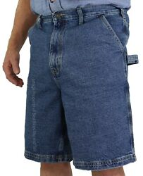 Big And Tall Menand039s Sizes 42 - 64 Carpenter Denim Shorts By Rocxl