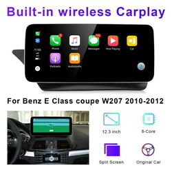 12.3 Android Car Gps Wifi Auto Multimedia Head Unit For Benz E Class Coupe W207