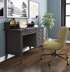 Computer Desk With Drawers And Hutch Home Office Deskwood Frame Vintage Style