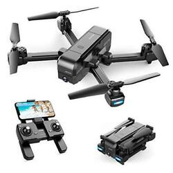 Sp510 Foldable Gps Fpv Drone With 2.7k Camera For Adults Uhd Live Video Rc