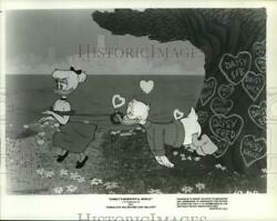 1980 Press Photo Daisy And Donald Duck In Donaldand039s Valentine Day Salute