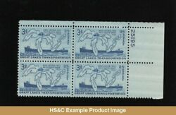 Hsandc 1069 3 Cents Great Lakes And Steamers Mnh Plate Block Us Stamps F/vf