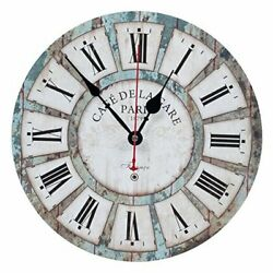 Wall Clocks Decorative Silent Non Ticking Vintage Wall Clock Ocean Blue