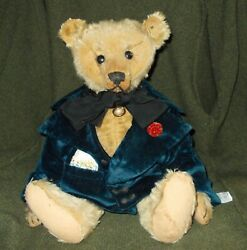 Antique Steiff Teddy Bear C 1908 With Button 18 Inches