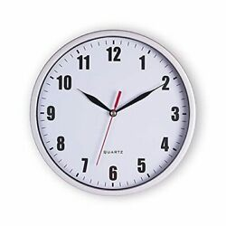 8quot; Silent Quartz Wall Clock Non Ticking Digital Silver Wall Clocks 02 Silver