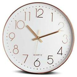 12 Inch Silent Modern Wall Clock Battery Operated Decorative Wall Clocks for