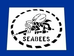 Usn 8x8 United States Navy Seabees Stencil Andnbsp Made In The Usa By Vets