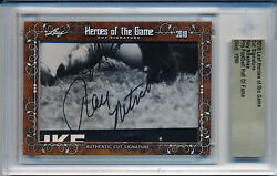 Ray Nitschke 2018 Leaf Heroes Of The Game Hof Packers Cut Signature Auto