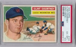 Clint Coutney 1956 Topps 159 Gray Back Psa 6.5 Ex-mt+