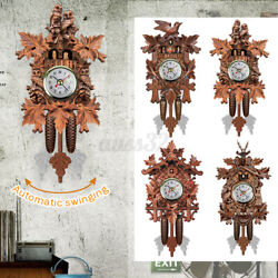 Wall Clocks Cuckoo Pendulum Watch Art Craft Home Decoration Hanging Wood NEW