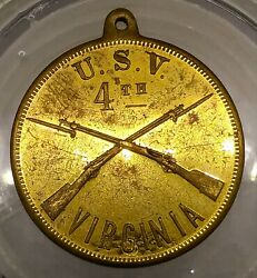 1898 Span. Amer. Dog Tag - 4th Ma Voland039s - Camp Onward - Savanah Ga