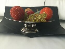 Christofle Art Deco Cake Or Fruit Stand By Luc Lanel Christofle France 1930s