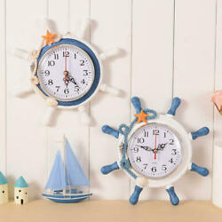 Wall Clocks Nautical Anchor Designed Home Watch Decoration Beach Sea Theme Clock