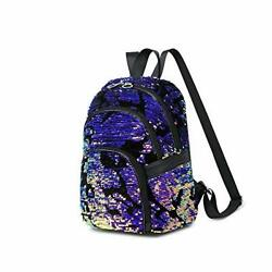 VVVNSA Girls Small Sequin Casual Backpack Purse for Women Purple $32.44
