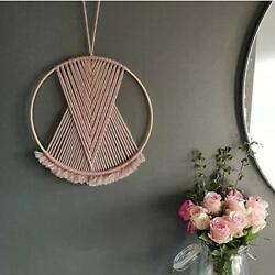 B.N.D TOP Pink Macrame Wall Hanging Mini Small colorful Boho Decor for Bed Ro...