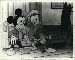 1985 Press Photo Mickey Mouse Donald Duck In Mickeyand039s Christmas Carol