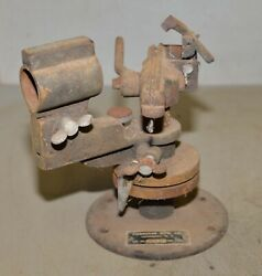 Rare Antique Chainsaw Saw Mill Sharpener Forester Mfg Lockport Ny Cast Iron Tool