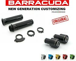 Knobs Race Black+weights For Motorcycle Scooter Maxi Bultaco Cagiva Cpi
