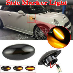 Amber Led Side Marker Light Sequential Turn Signal For Mini Cooper R50 R52 R53