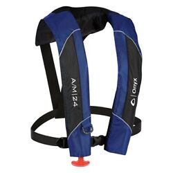 Onyx Outdoor 132000-500-004-15 A/m-24 Pfd Blue Inflatable Life Jacket