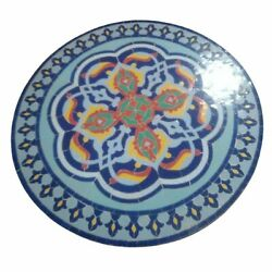Moroccan Mosaic Tile Table - 40in Round Zellige - Various Colors