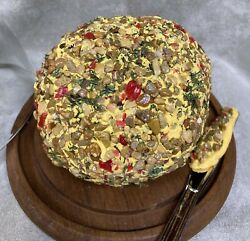 Faux Fake Food Cheese Ball Farmhouse Kitchen Party Table Display Home Stage Prop