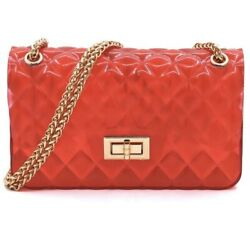 Red jelly crossbody purse shoulder bag red purse red bag summer purse $22.00