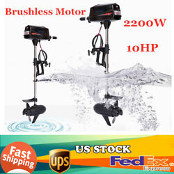10hp Electric Outboard Motor 2.2kw Brushless Boat Engine Tiller Control +propel
