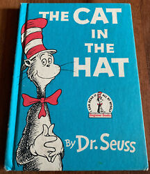 Cat In The Hat Dr. Seuss Orig 1957 Book Club Hc First Edition Number Line 1 Rare