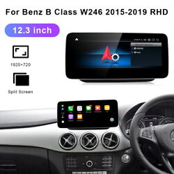 12.3 Android Car Gps Video Wifi Head Unit For Benz B Class W246 2015-2019 Rhd