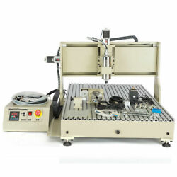 Usb 4axis Cnc 6090 Router Engraver 3d Mill Drill Carving Machine+handwheel 2.2kw