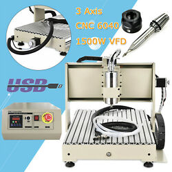 3 Axis Usb 6040 Cnc Router Engraver 3d Milling Drilling Machine 1500w+controller