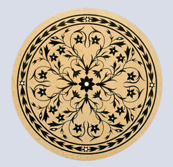 36 Marble Dining Table Top Marquetry Floral Inlay Kitchen Handmade Decor B773