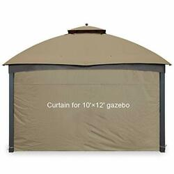 Gazebo Universal Replacement Privacy Curtain Side Wall Fits 10'x10' And 10'x12'