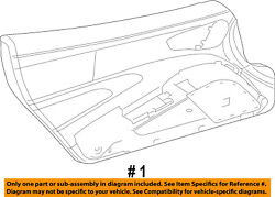 Srt Chrysler Oem 13-14 Viper-door Interior Trim Panel Left 5ph61ysaaa