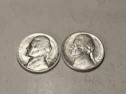 1942 P-s Ch/gem Bu Uncirculated Silver Jefferson Nickels Two Coin Set Group70