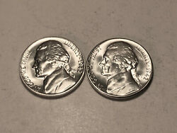 1942 P-s Ch/gem Bu Uncirculated Silver Jefferson Nickels Two Coin Set Group72