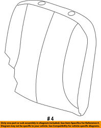 Ram Chrysler Oem 13-18 3500 Front Seat-cushion Cover-top Back Right 5rc40dx9ab