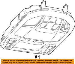 Chrysler Oem 17-18 Pacifica-overhead Roof Console 6es93pd2ac