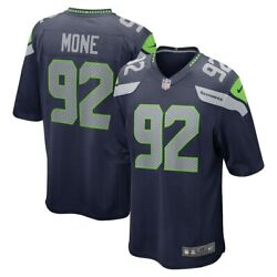 Seattle Seahawks Bryan Mone 92 Nike Men's Navy Official Nfl Game Player Jersey