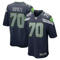 Seattle Seahawks Mike Iupati 70 Nike Men's Navy Official Nfl Game Player Jersey
