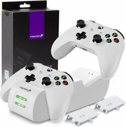 Dual Controller Charger Compatible With Xbox One One X One S Elite W 2 Slots