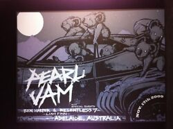 Pearl Jam November 17 2009 Adelaide Australia Concert Poster By Munk One Minty