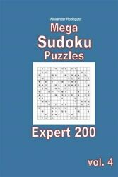 Mega Sudoku Puzzles - Expert 200 Vol. 4 Brand New Free Shipping In The Us