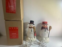 Avon Chilly Samantha And Sam Light Up Snowman The Gift Collection Snowman's $84.15
