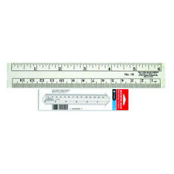 Acme United Corporationt 18 Flexible Inch / Metric Ruler Transparent 6 Inch