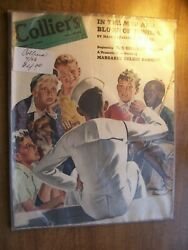 1943 April 17 Collier's Magazine Wwii Mud And Blood Tunisia Lucky Strike Ad